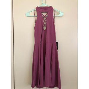 Pink choker dress